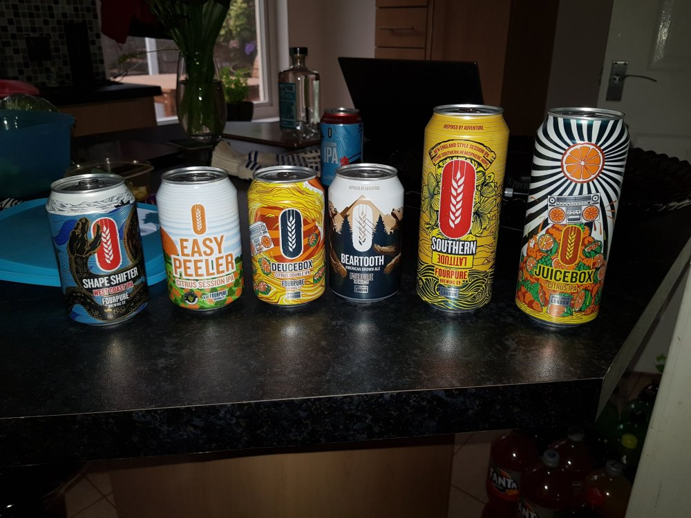 Fourpure complimentray beers
