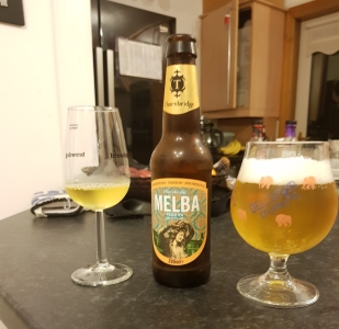 Melba, peach in colour, aroma and flavour!