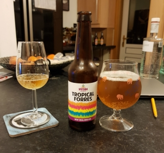 Colourful beer, great drink, oh and a cheeky bottle of gin - The Botanist - in the background!